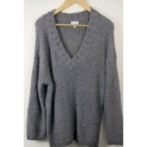 NWT Susina Gray Knit Long Sleeve Sweater